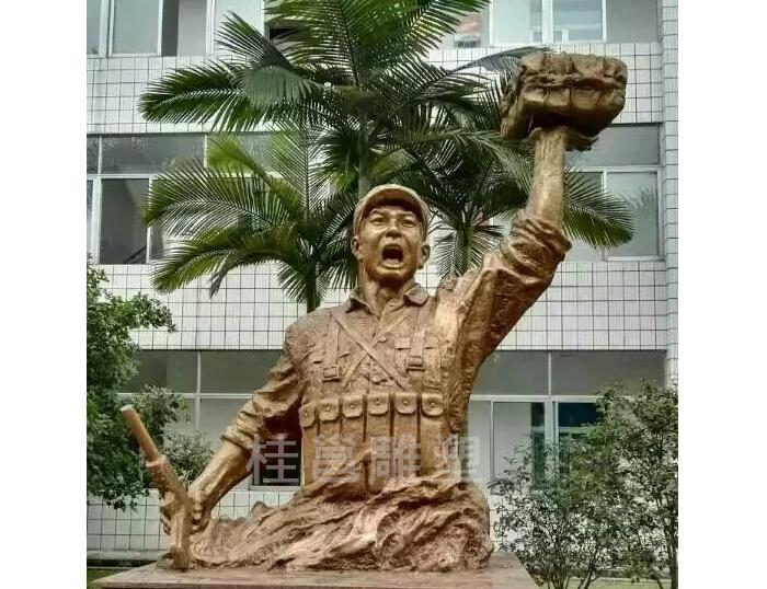 军人主题雕像
