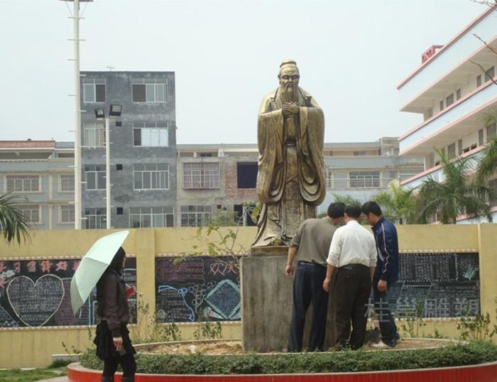 广西上林县民族实验学校所做孔子像